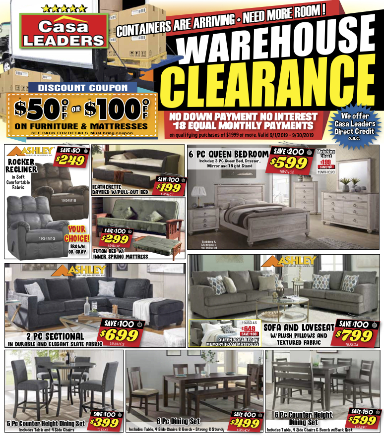 Warehouse Clearence