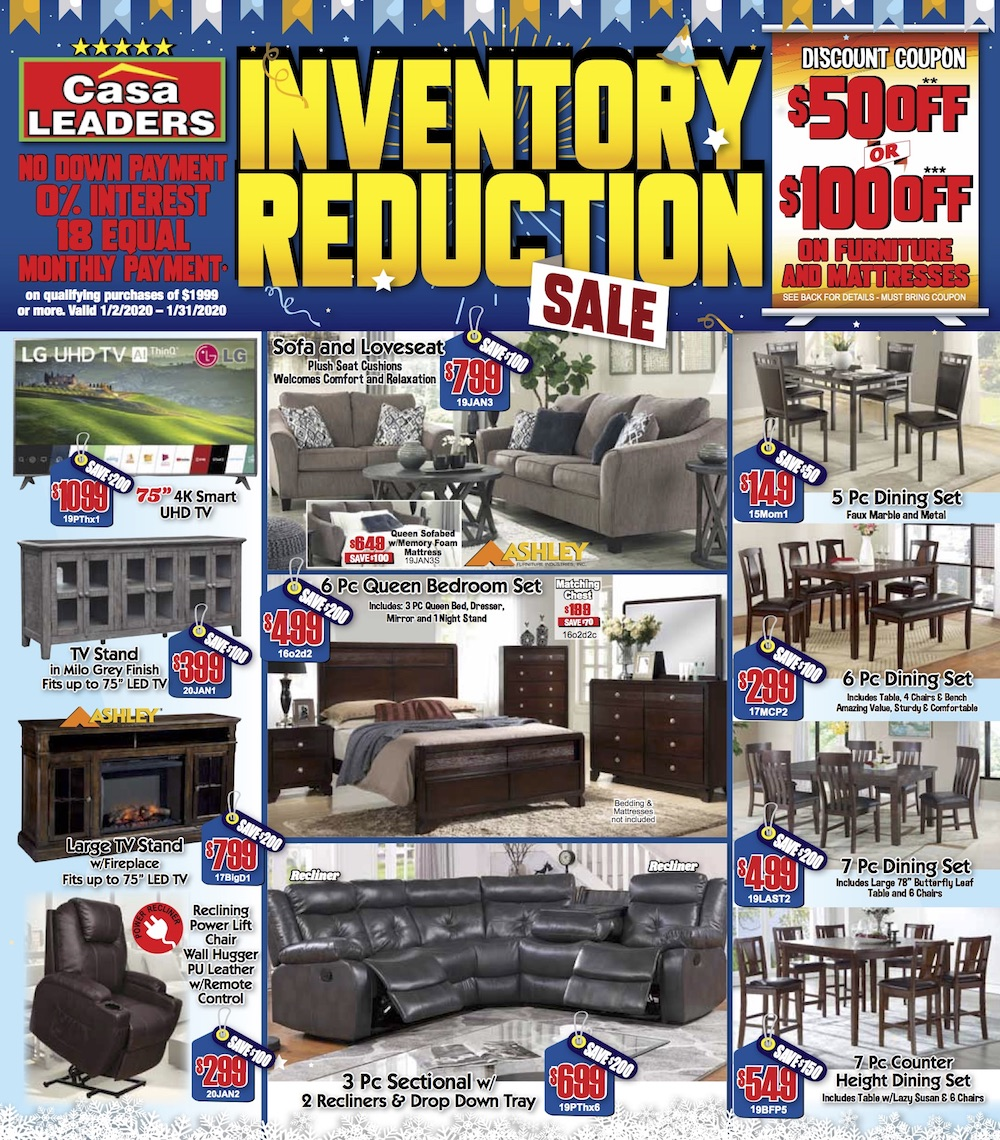 Inventory reduction 2020