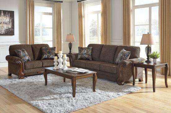 Ashley Milton Wood Sofa Love Seat product image
