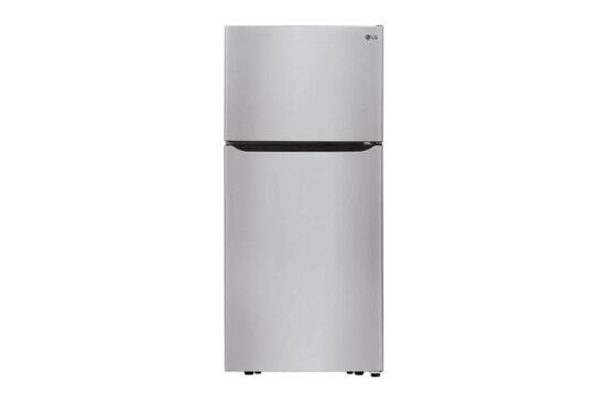 LG fridge with LED lights front
