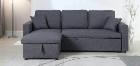 Milton Green Stars Grey Sofa Chaise product image