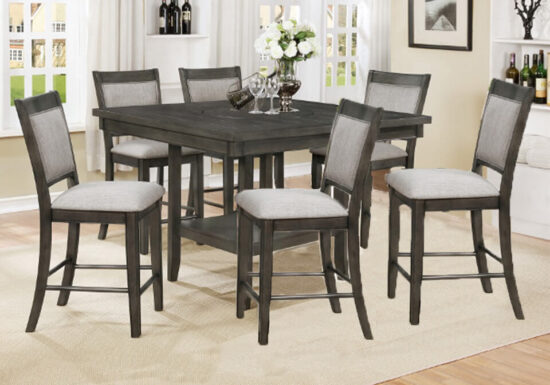 Fulton Lazy Susan 7 piece dining table set product image
