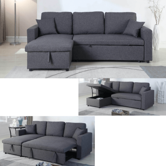 Milton Green Stars Grey Sofa Chaise all variations product image