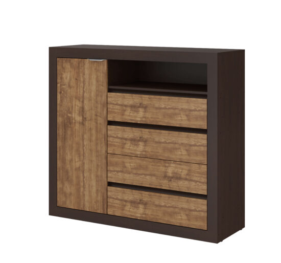 Casa Blanca 5 drawer chest with closet product image