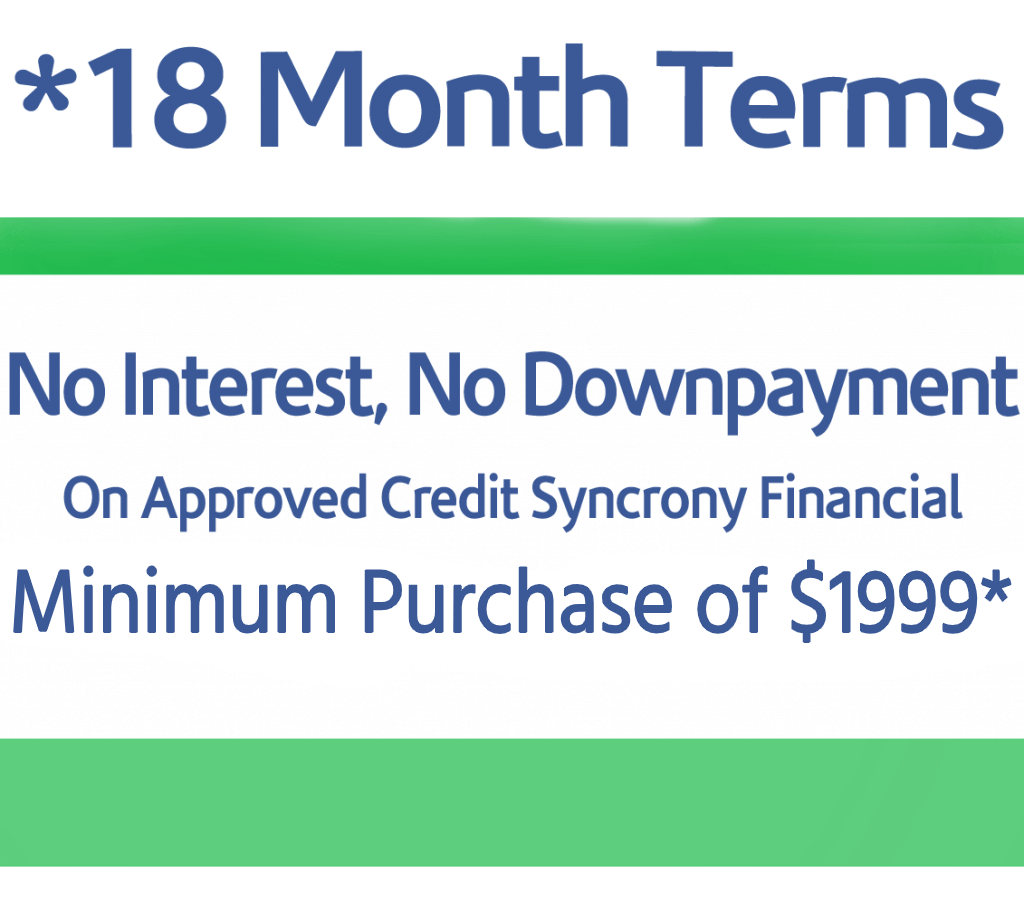 18 Month Financing Promotion image
