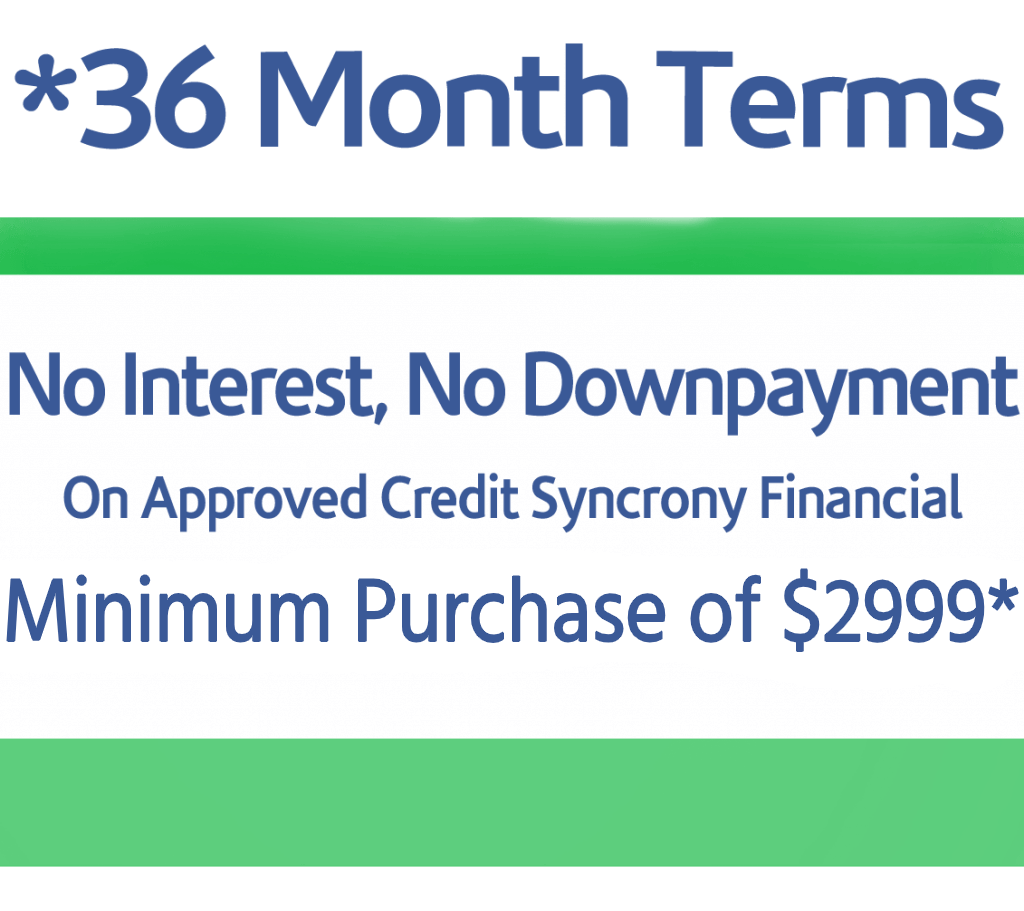 36 Month Financing Promotion image