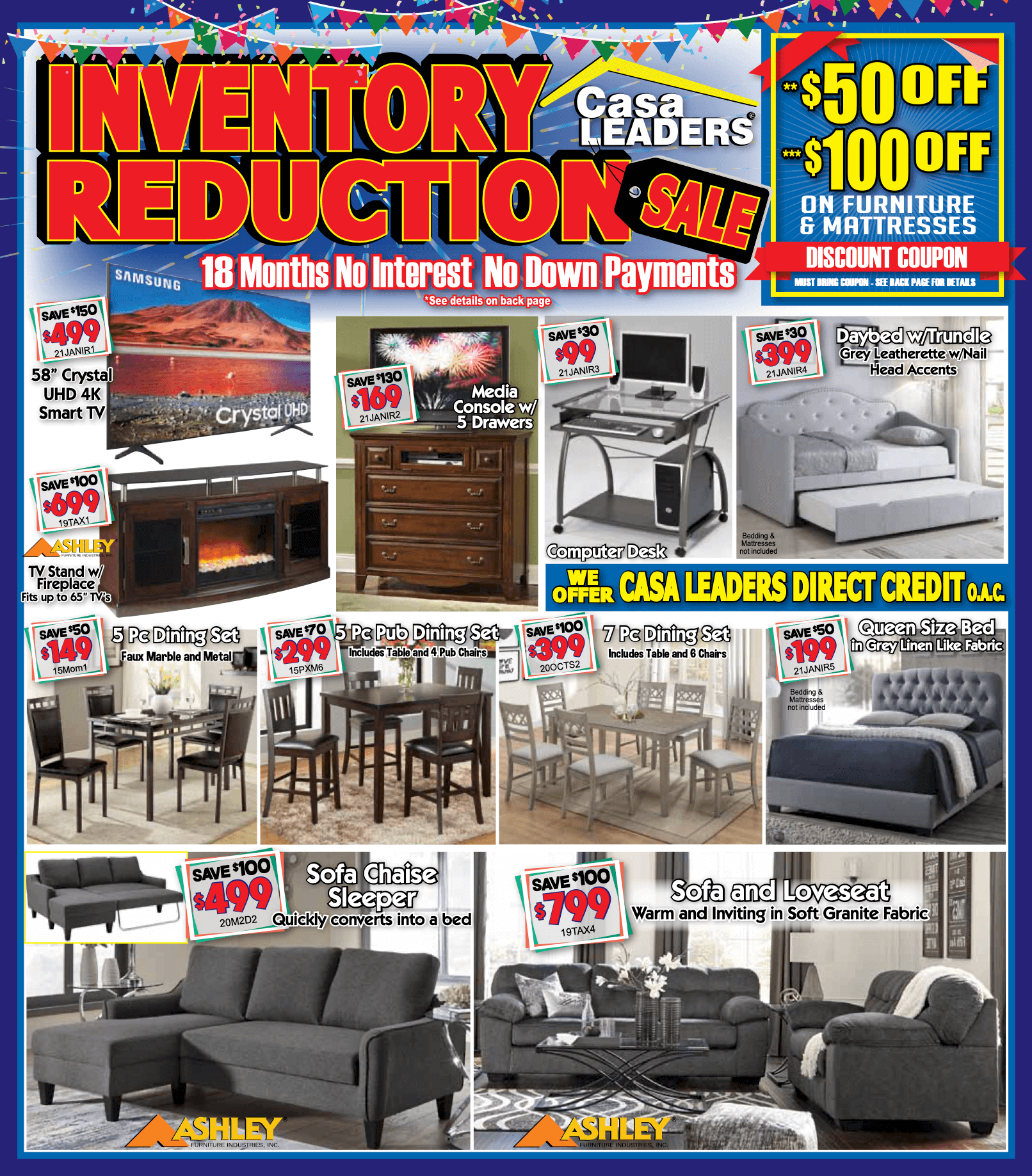 Inventory Reduction Sale page 1 mailer