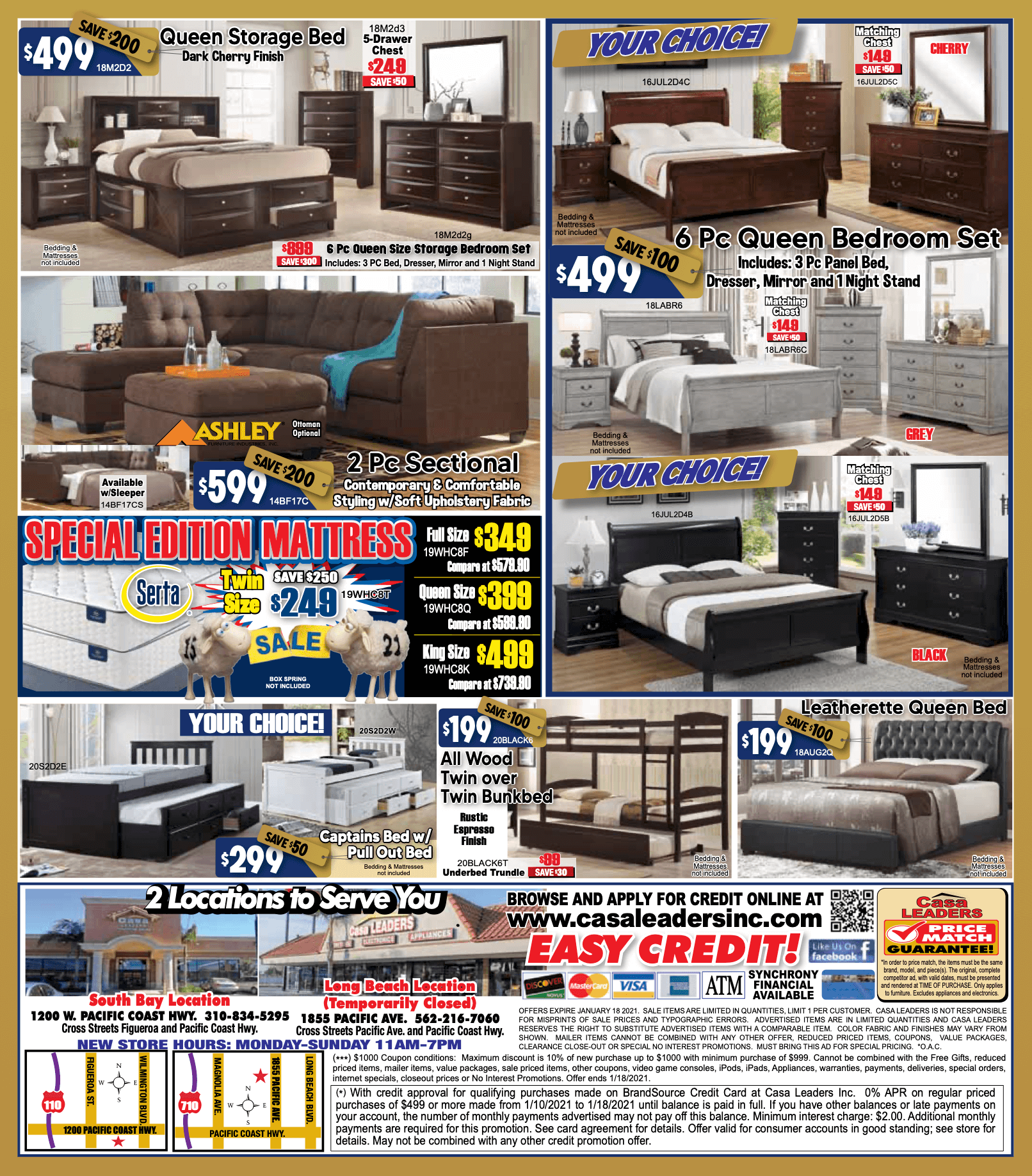 0% Interest and Downpayment Sale page 2 ad flyer