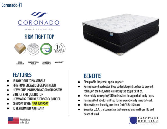 Coronado Firm Tight Top by Comfort Bedding product image