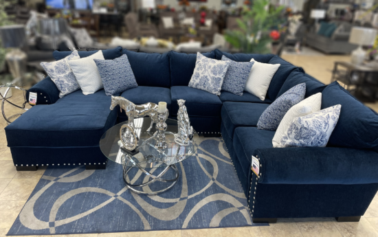 Harley Sectional in navy product image