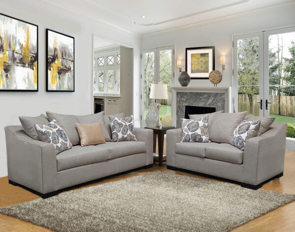 Mackie Granite Sofa and Loveseat by Comfort Industries product images