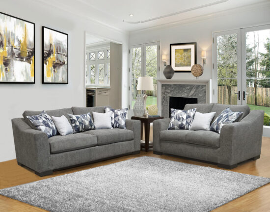 Milo Slate sofa and loveseat by Comfort Industries product image