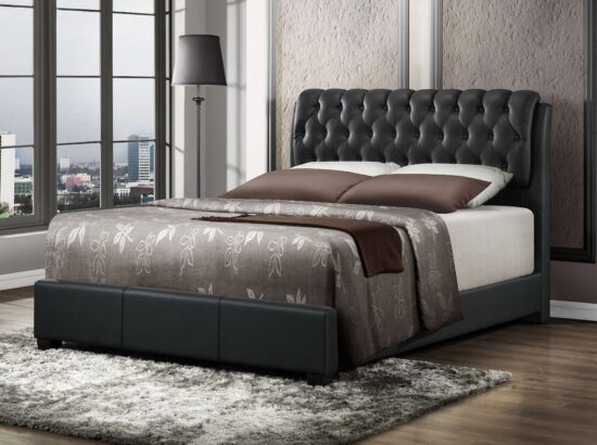 Queen Leatherette Bed by Casa Blanca Furnishings product image