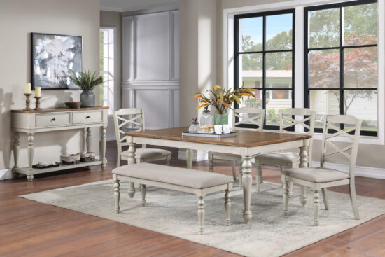 Jennifer 6 pc dining set by new classic furniture product image