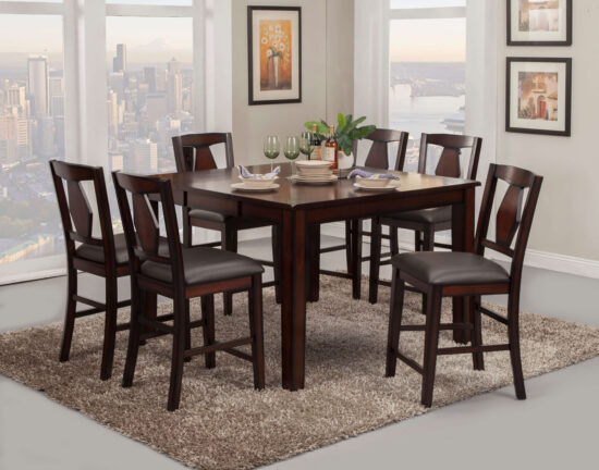 2300 7 Piece Tuscan Hills pub dining set by Vilo Home product image