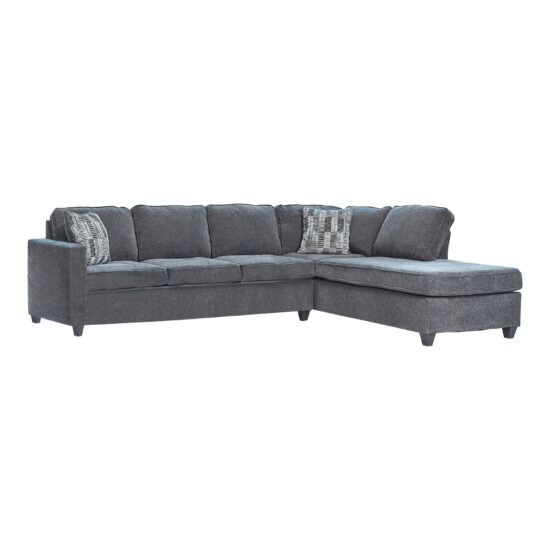 509347_1 Mccord 2-Piece Cushion Back Sectional Dark Grey by coaster product image