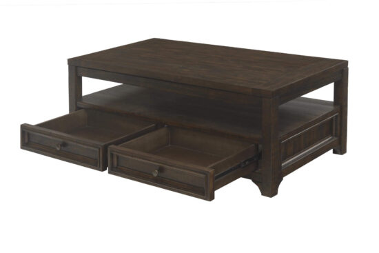 Lisbon 48 inch coffee table in Dark Mocha Finish product image