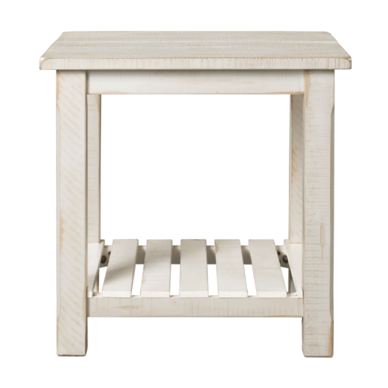 Home Barn Door End Table in Antique White by Martin Svensson Home product image