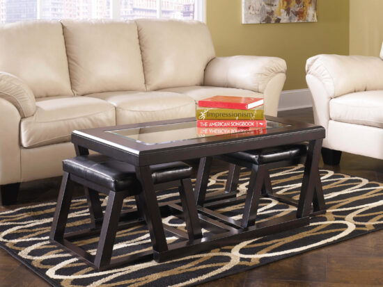 T592-1 Kelton Coffee Table with Nesting Stools by Ashley Product image