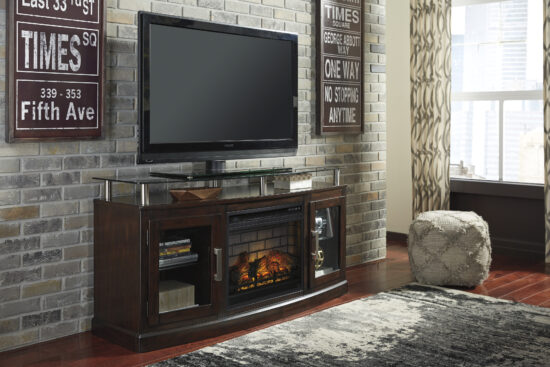 W757 Chanceen TV Stand with fireplace by Ashley