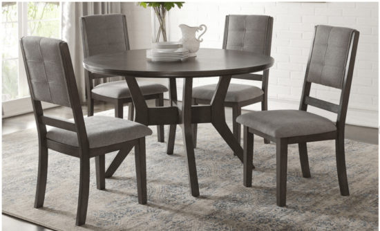 hom5165 Nisky 5 Piece Round Dining Set by home elegance product image