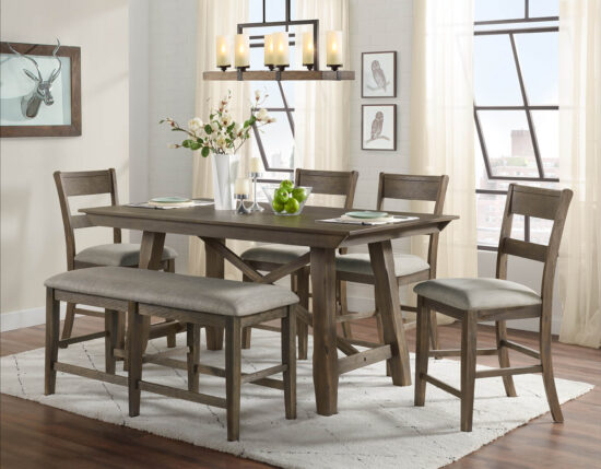 Hillcrest 6 piece dining set by Vilo Home product image