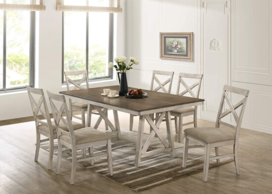 Somerset 7 piece dining set by New Classic Furniture product image