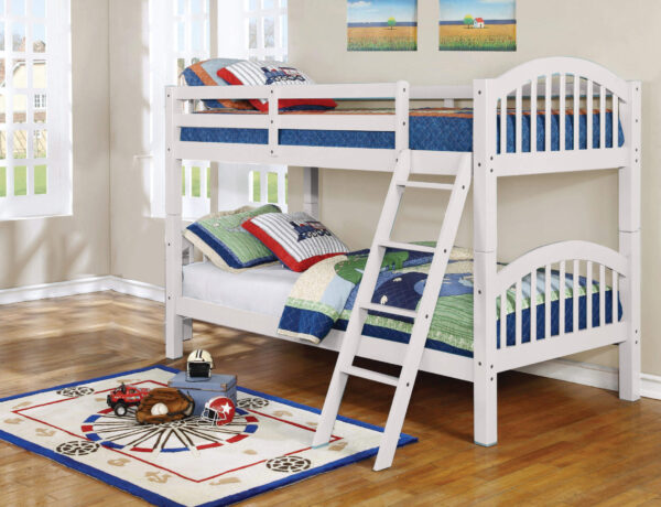 Twin over Twin White Bunkbed by Espirit product image