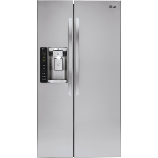 LSXS26326 LG 26 cu. ft. Side-By-Side Refrigerator with Water and Ice Dispenser product image