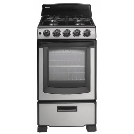 """DR202BSSGL Danby 20"""" Stainless Steel Gas Stove product image"""