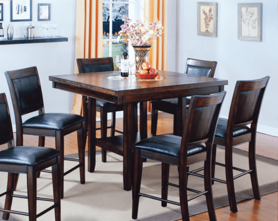 cro2727 Fulton 7 Piece Counter Height Table Set By Crown Mark product image
