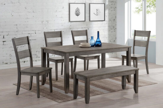 cro1131 Sean Melamine 6 Piece Dining Set By Crown Mark product image