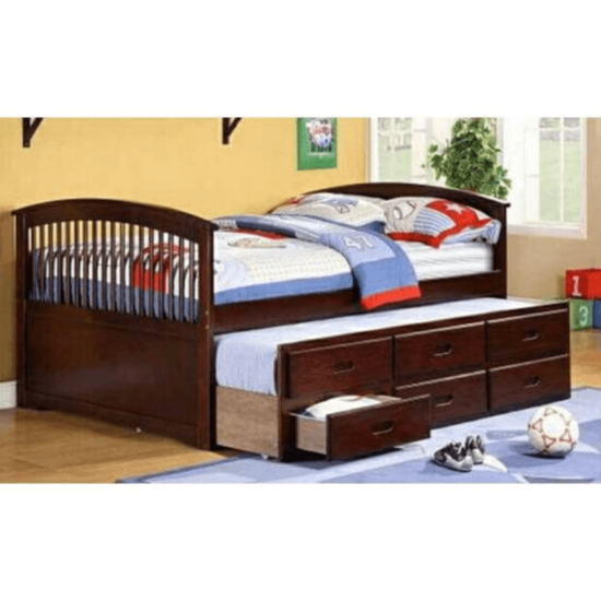 Full Size Captains Bed with Twin Underbed and Drawers By Asia Diriect product image