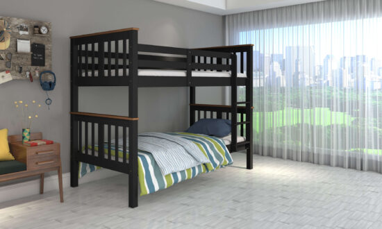 Twin over Twin Bunk bed in Espresso and Honey by casa blanca Furniture product image