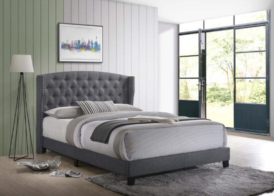 Rosemary Queen Platform Bed in Grey By Crown Mark product image