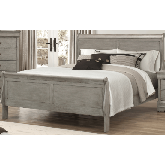 Grey Louis Philip bed by Crown Mark product image