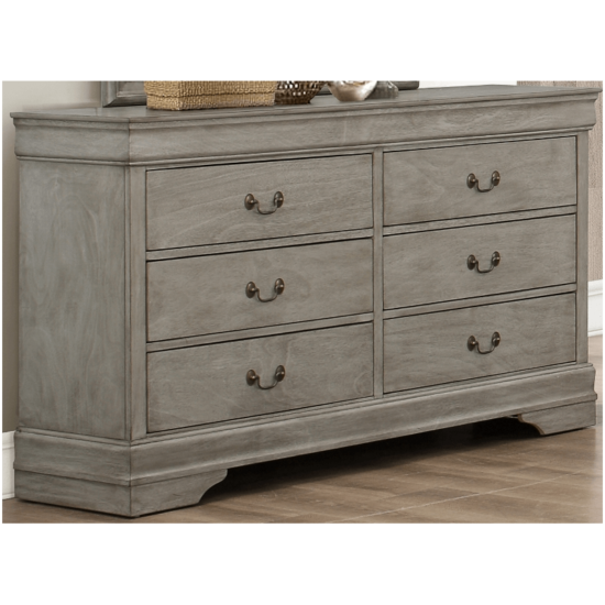 Grey Louis Philip dresser by Crown Mark with 6 drawers product image