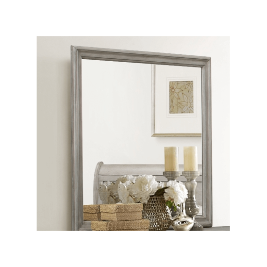 Crown Mark 3650 louis phiulip in white mirror product image