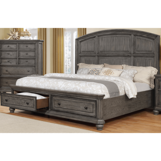 Lavonia Queen Bed By Crown Mark with 2 storage drawers product image