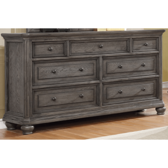 Lavonia Dresser By Crown Mark with 7 drawers and a grey finish product image
