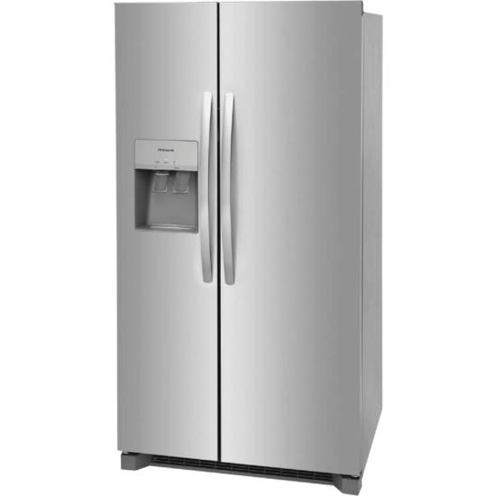 FRSS2623AS lg 25.6 cu.ft refrigerator product image in stainless steel side by side