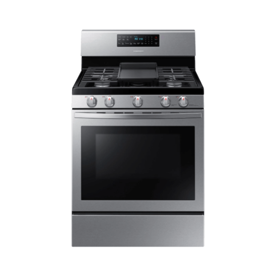 NX58R5601SS 5.8 cu. ft gas stove by samsung with 5 burners and griddle product image