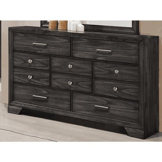 B6580 Jaymes dresser by crown mark 7 drawers in dark brown product image