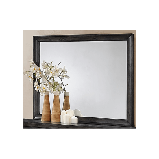 B6580 Jaymes Mirror by crown mark brown frame product image wood