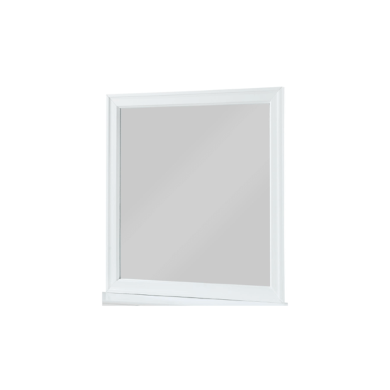 This mirror features a beautiful beveled frame, clean lines and a crisp white finish that brightens any space. product image louis philip white mirror