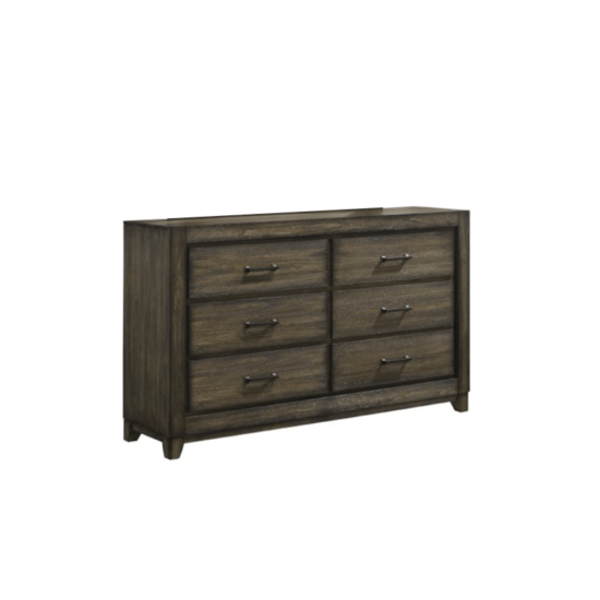 Ashland dresser By New Classic Furniture with 6 drawers and brown handles product image