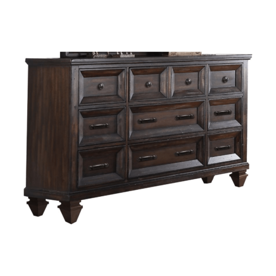 Sevilla New Classic Dresser in dark walnut finish