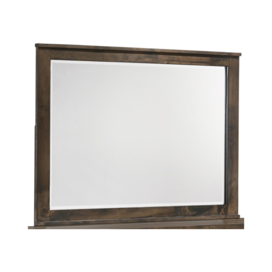 Blue Ridge mirror by new classic furniture in a grey finish that looks brown product image