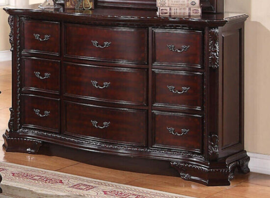cro1100 Sheffield Dresser in wood with embroidery product image